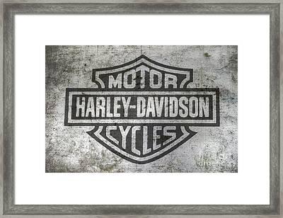 Harley Davidson Logo On Metal Framed Print by Randy Steele