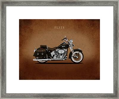 Harley Heritage Springer Framed Print by Mark Rogan