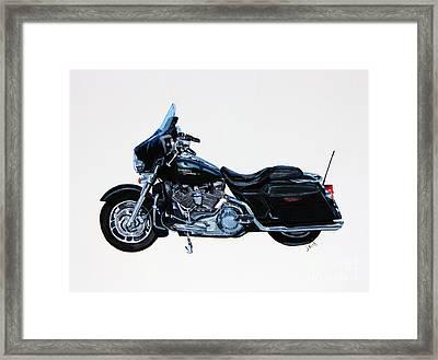 Harley Davidson Street Glide Framed Print by Janet Felts