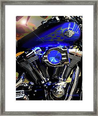 Harleys Twins Framed Print by DigiArt Diaries by Vicky B Fuller