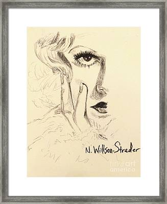 Harlow, Half Face Framed Print by N Willson-Strader