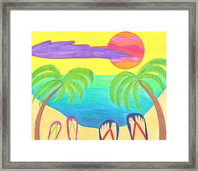 Harmony Cove Framed Print by Geree McDermott