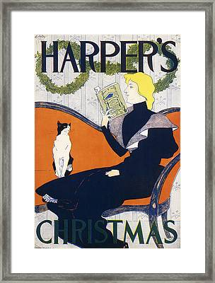 Harper's Christmas Framed Print by Edward Penfield