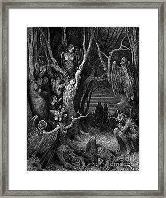 Harpies, Legendary Creatures Framed Print by Science Source