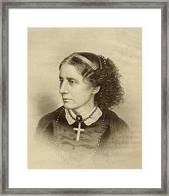 Harriet Beecher Stowe, 1811-1896 Framed Print by Vintage Design Pics