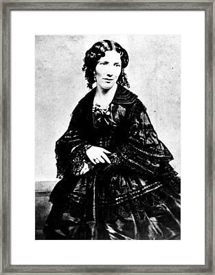 Harriet Beecher Stowe, Ca.1800s Framed Print by Everett