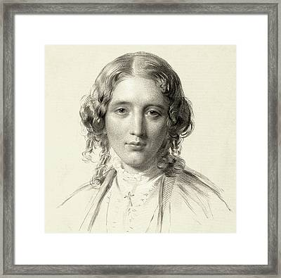 Harriet Beecher Stowe Framed Print by Francis Holl