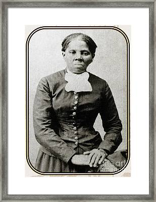 Harriet Tubman, American Abolitionist Framed Print by Photo Researchers