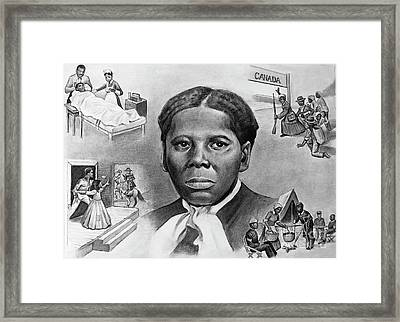 Harriet Tubman Framed Print by Curtis James