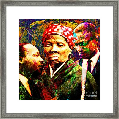 Harriet Tubman Martin Luther King Jr Malcolm X 20160421 Square Framed Print by Wingsdomain Art and Photography