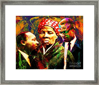 Harriet Tubman Martin Luther King Jr Malcolm X 20160421 Framed Print by Wingsdomain Art and Photography