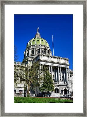 Harrisburg Capitol Building Framed Print by Olivier Le Queinec