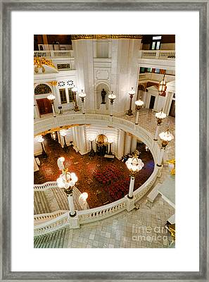 Harrisburg State Capitol Rotunda Framed Print by Olivier Le Queinec