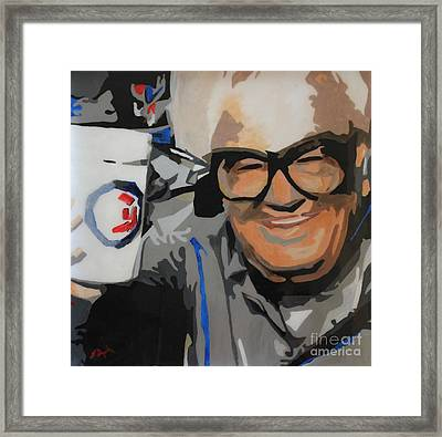 Harry Caray Framed Print by Steven Dopka