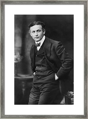 Harry Houdini 1874-1926, American Framed Print by Everett