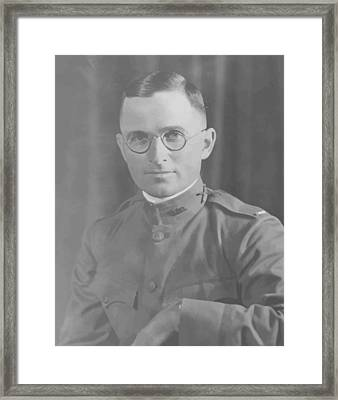 Harry Truman During World War One Framed Print by War Is Hell Store