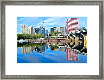 Hartford Reflects Framed Print by Frozen in Time Fine Art Photography