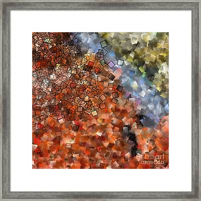 Harvest - Abstract Tiles No15.817 Framed Print by Jason Freedman