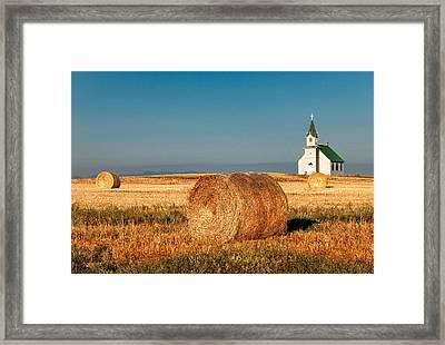Harvest Church Framed Print by Todd Klassy