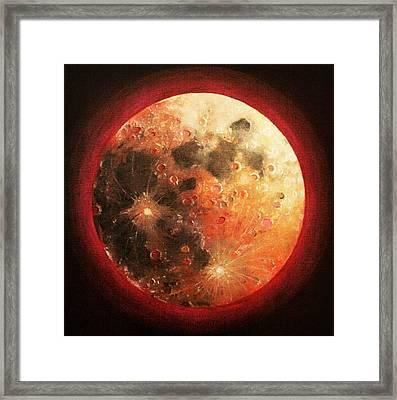 Harvest Full Moon Framed Print by Shelley Irish
