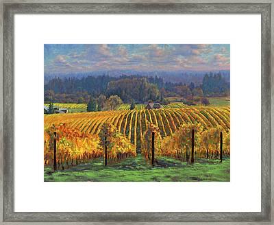 Harvest Gold Framed Print by Michael Orwick
