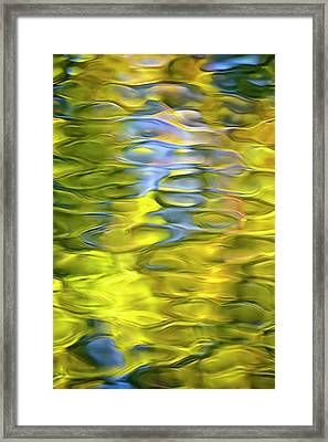 Harvest Gold Mosaic Framed Print by Christina Rollo