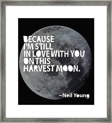 Harvest Moon Framed Print by Cindy Greenbean