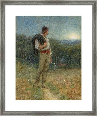 Harvest Moon Framed Print by Helen Allingham