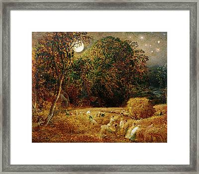 Harvest Moon Framed Print by Samuel Palmer