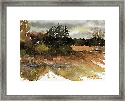 Harvest Snow Framed Print by Judith Levins