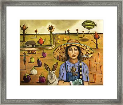 Harvey And The Eccentric Farmer Framed Print by Leah Saulnier The Painting Maniac