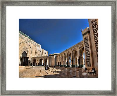 Hassan II Mosque 3 Framed Print by Chuck Kuhn