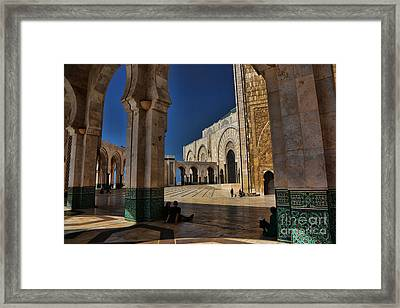 Hassan II Mosque  Framed Print by Chuck Kuhn
