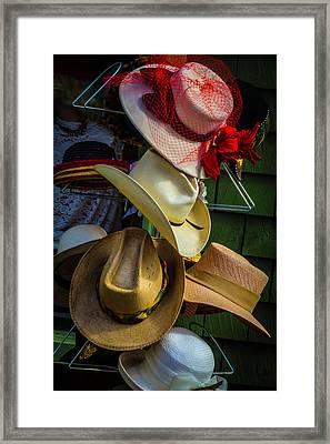 Hat Rack Framed Print by Garry Gay