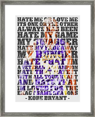 Hate Me Framed Print by Iman Cruz