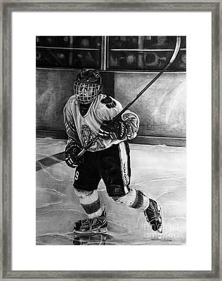 #9 Hatfield Ice Dog Bantam A Framed Print by Gary Reising