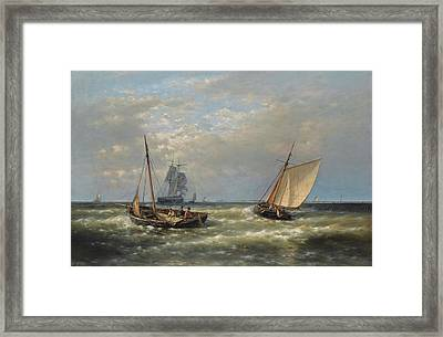 Hauling In The Nets Framed Print by Abraham Hulk