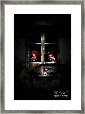 Haunted Clown House Framed Print by Jorgo Photography - Wall Art Gallery