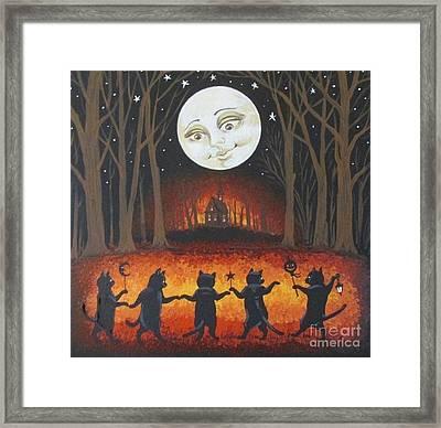 Haunted Dance Framed Print by Margaryta Yermolayeva
