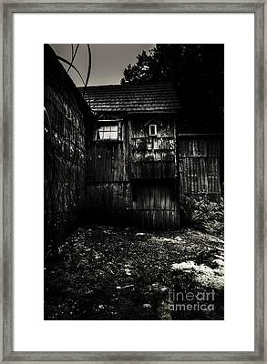 Haunted Outback Cabin In Dark Night Woods Framed Print by Jorgo Photography - Wall Art Gallery