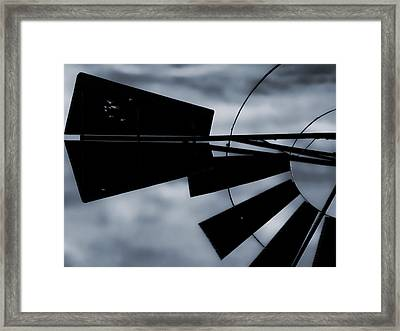 Haunted Windmill Framed Print by Tony Grider