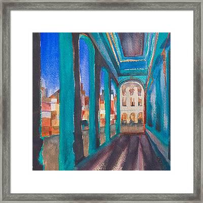 Havana Blue Arches 1 Framed Print by Lynne Bolwell