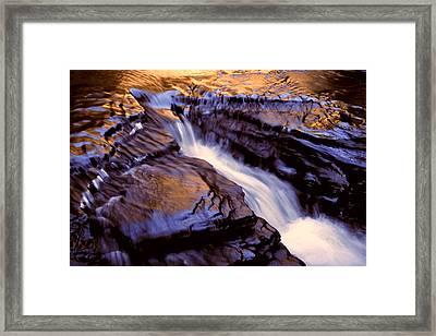 Havana Glen Reflection Framed Print by Roger Soule