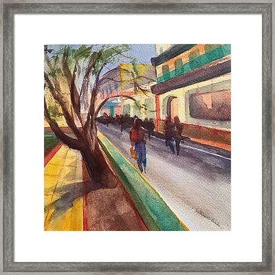 Havana Street Scene101 Framed Print by Lynne Bolwell