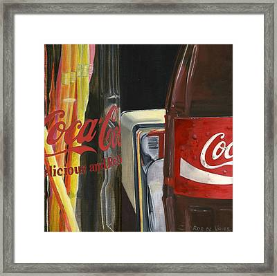 Have A Coke... Framed Print by Rob De Vries