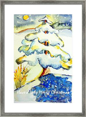Have A Merry Christmas Framed Print by Mindy Newman