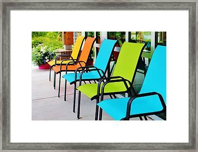 Have A Seat Framed Print by Cynthia Guinn
