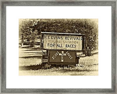 Have Miracle - Will Travel 2 - Sepia Framed Print by Steve Harrington