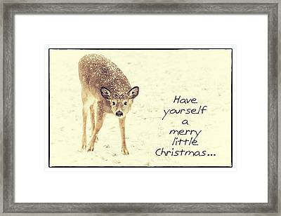 Have Yourself A Merry Framed Print by Karol Livote