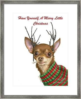 Have Yourself A Merry Little Christmas Cards Framed Print by Sarah Batalka